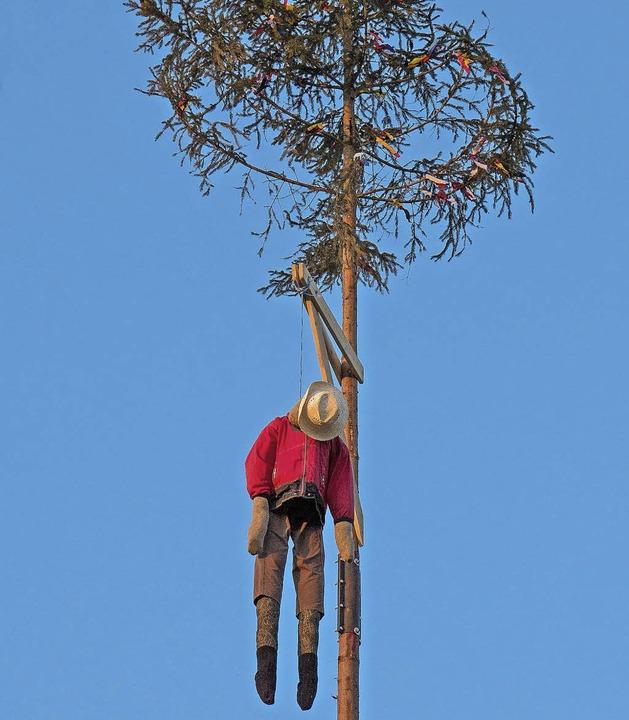 Narrenbaum in Machecoul  | Foto: Wilfried Dieckmann