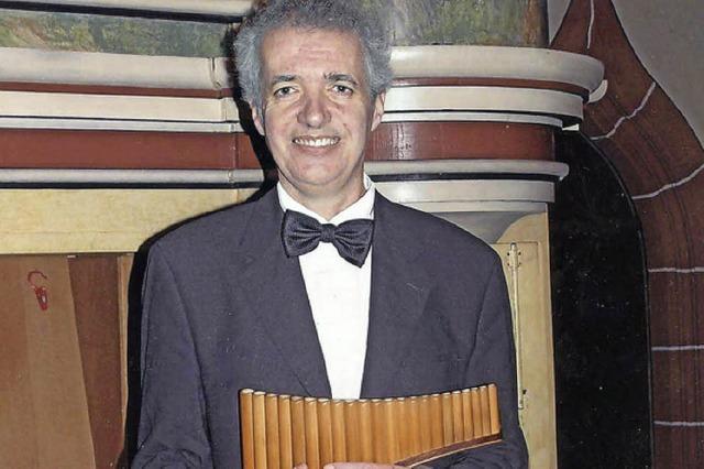 Alte Musik auf der Panflöte interpretiert