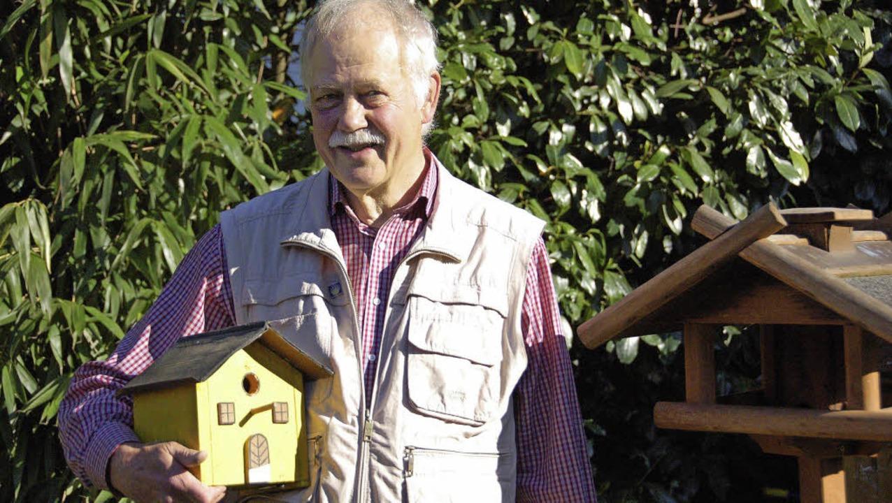 Feld-Ornithologe Norbert Hollenkamp au...en kennt 300 Vogelarten an ihrem Rufen  | Foto: Andrea Steinhart