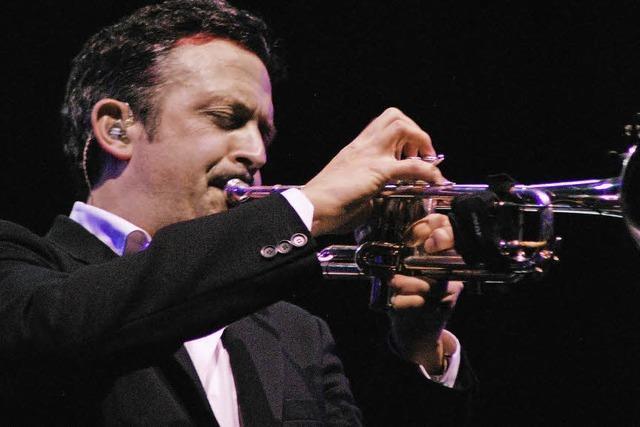 Der Trompeter Till Brönner beim Jazzfestival Basel auf