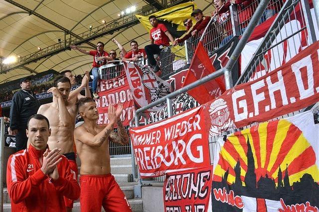 Wie die Fans des SC Freiburg und des Vfb Stuttgart das 2:2 im Derby erleben