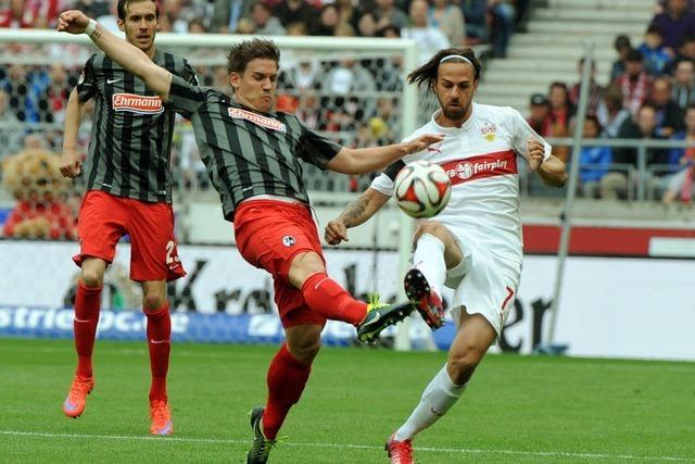 Der SC Freiburg quält sich zum 2:2 gegen Stuttgart