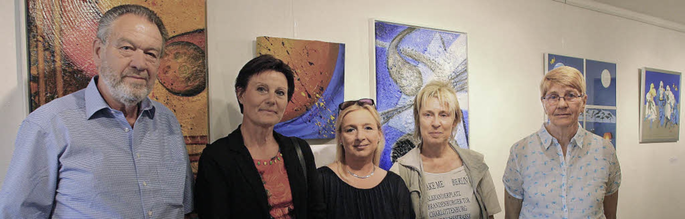Zur Ausstellung von acht  Kunstschaffe...us in die Galerie Alpha 7 in Weisweil.  | Foto: Christiane Franz