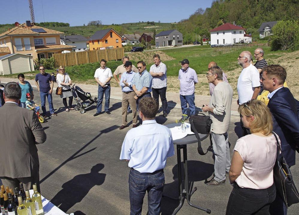 Die Fertigstellung der Erschließung de...m Gebiet Kapellenäcker wurde gefeiert.  | Foto: Michael Haberer