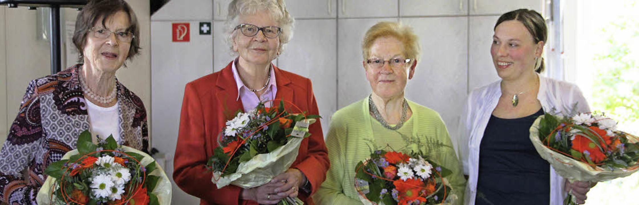 Sie sind wichtige Stützen des SkF und ...n. Nicht im Bild ist Heidemarie Stolz.    Foto: Sabine Model