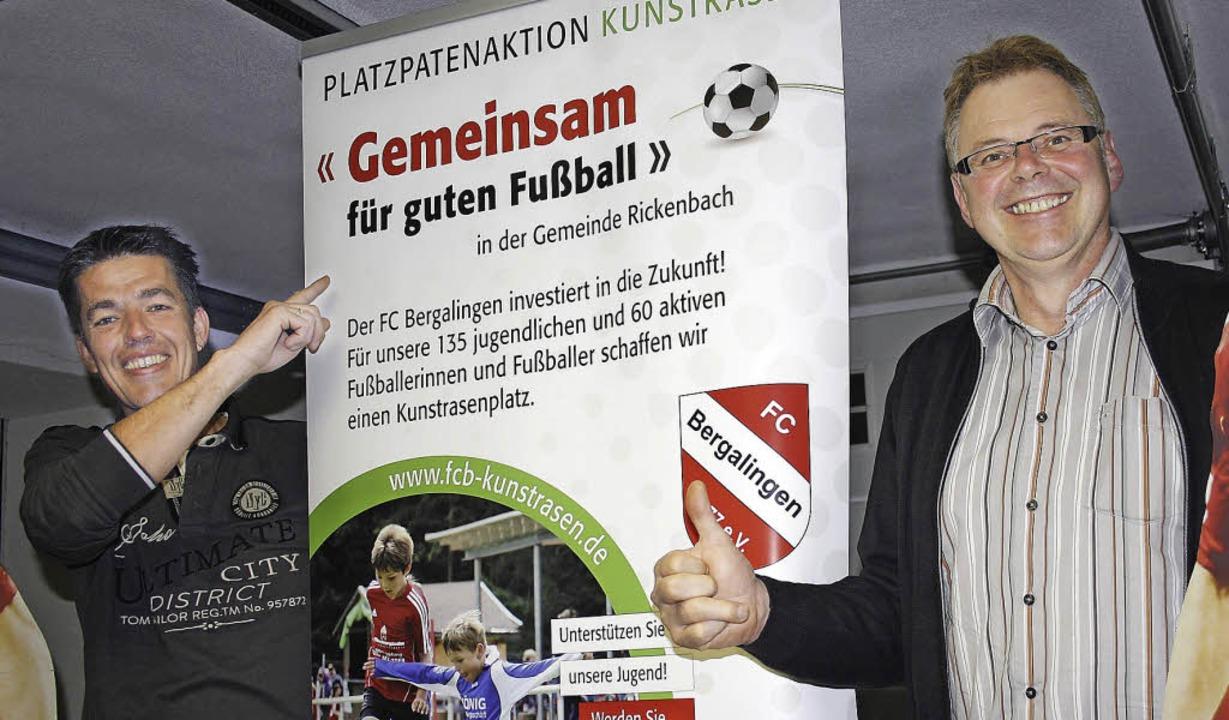 Zuversichtlich auf Sponsorensuche: Ral...in Rickenbach der Öffentlichkeit vor.     Foto: fc bergalingen