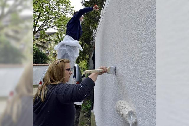 Bunte Wände werden weiß