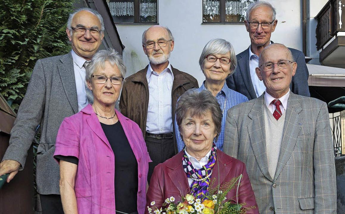 Das neu gewählte Führungsteam des CFA:...Hüttemann und André Ehm (vorne v.l.).     Foto: helmut Rothermel
