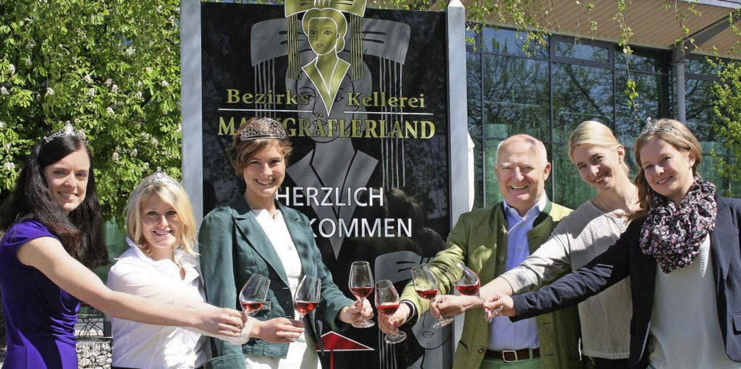 Weinhoheiten besuchten die Bezirkskell...ler Weinprinzessin Melissa Fünfgeld.    | Foto: Bezirkskellerei Markgräflerland