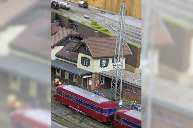Den Bahnhof von Kirchzarten als Modell sehen