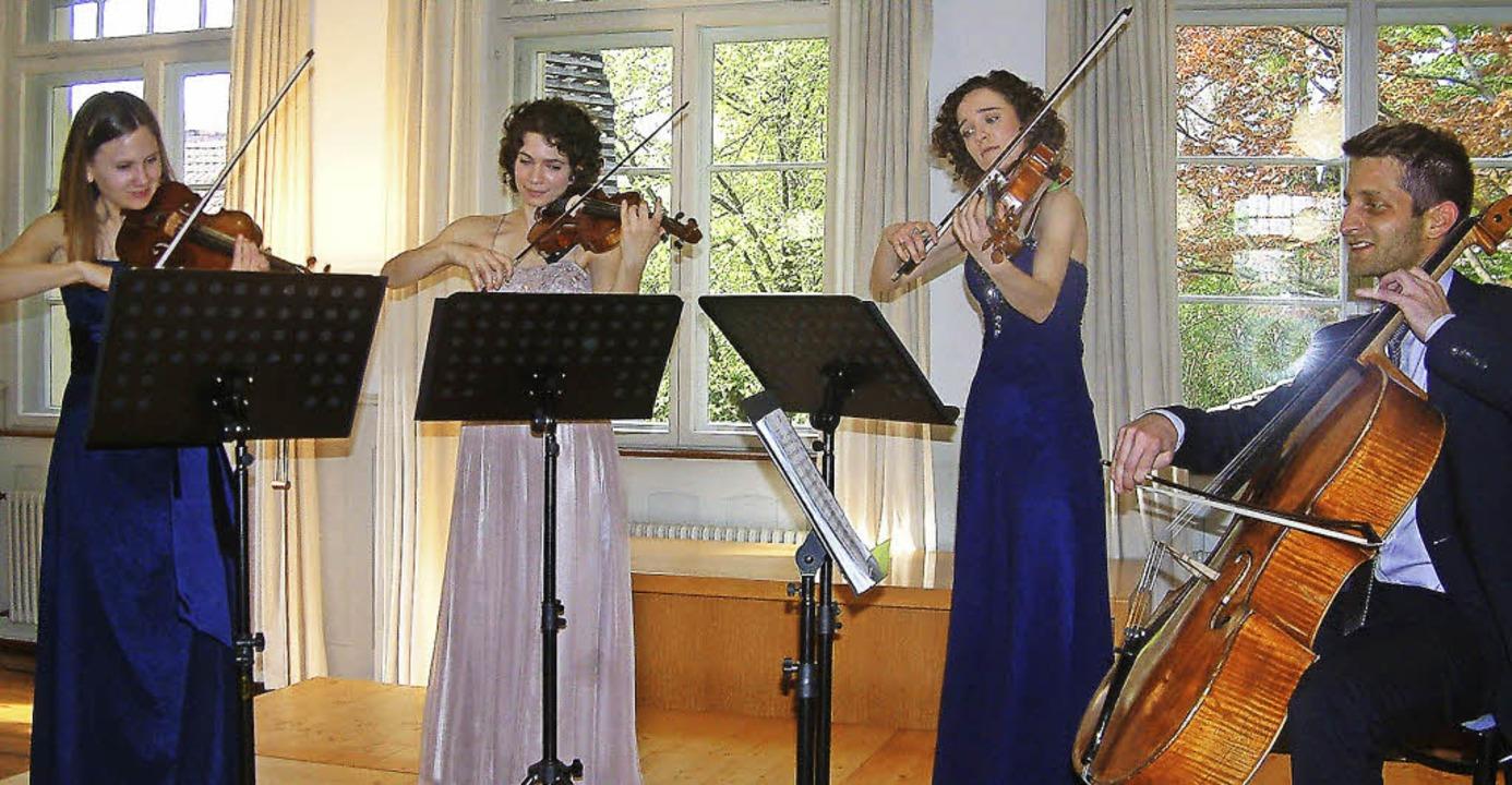 Seraina Pfenniger, Anne Battegay, Esther Fritzsche und Jonas Vischi (von links)   | Foto: Roswitha Frey