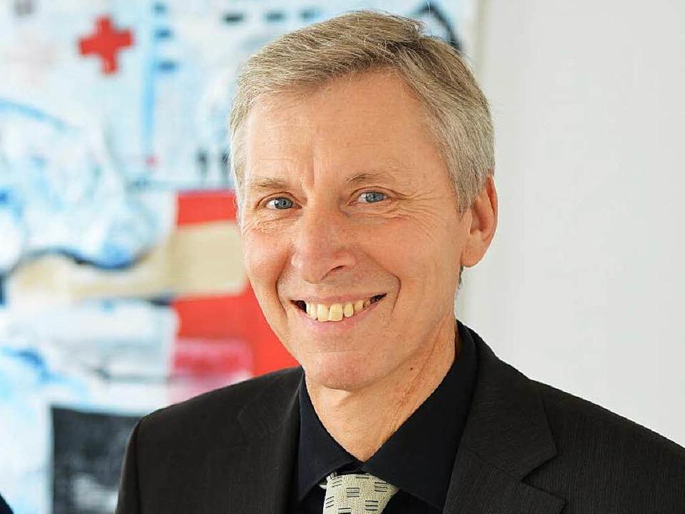 Wolfgang Schäfer-Mai vom DRK-Vorstand ...em Landkreis Breisgau-Hochschwarzwald.    Foto: Rita Eggstein