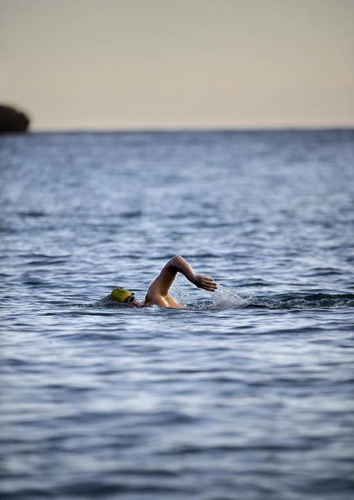 André Wiersig schwimmt und schwimmt und schwimmt.     Foto: privat