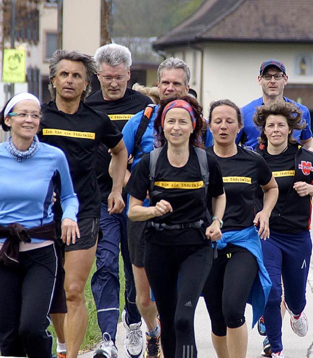Die Gruppe beim Zieleinlauf  | Foto: Verena Wehrle