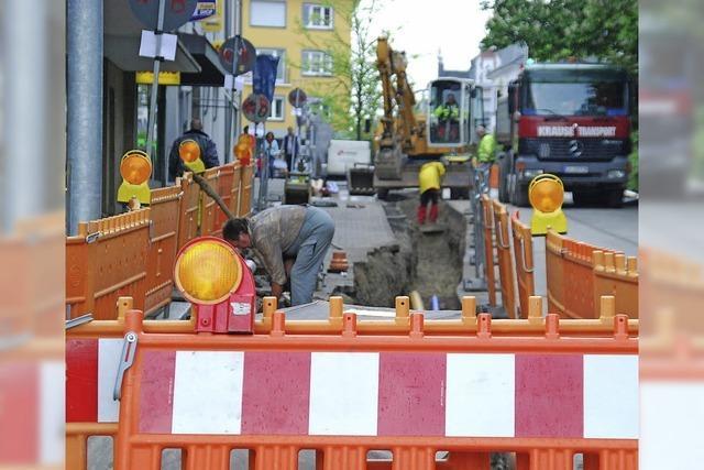 Vollsperrung der Basler Straße zwingt zu einer Umleitung