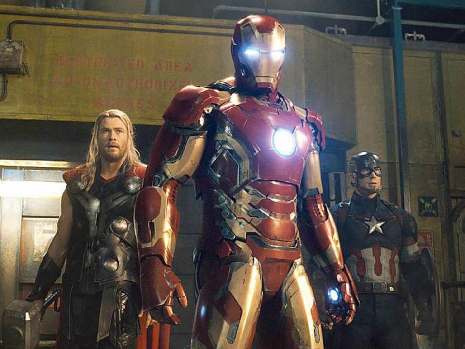 Die Filmfiguren Thor (links), Iron Man (Mitte) und Captain America.  | Foto: Marvel