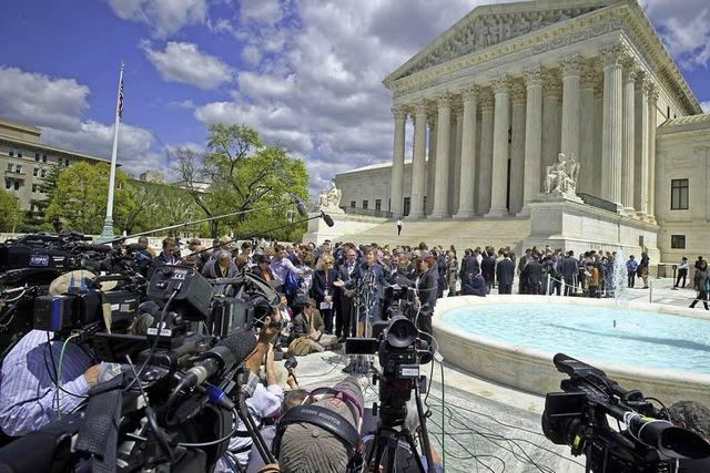 Supreme Court berät über Homo-Ehe