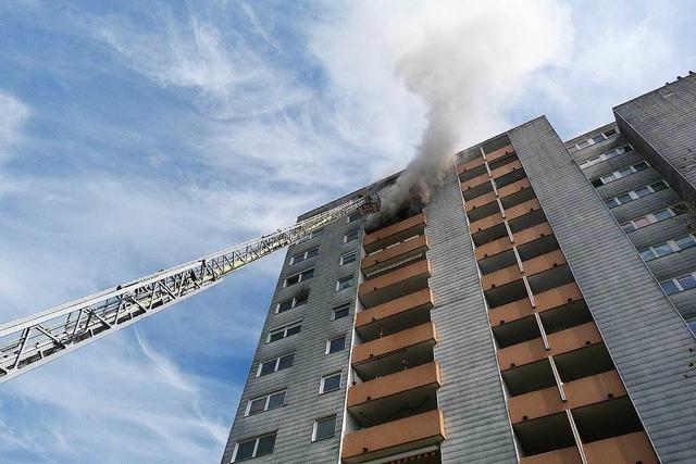 Feuer in Emmendinger Hochhaus: Bewohner war betrunken