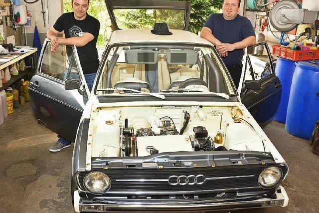 Freiämter frisiert 38 Jahre alten Audi mit Blattgold