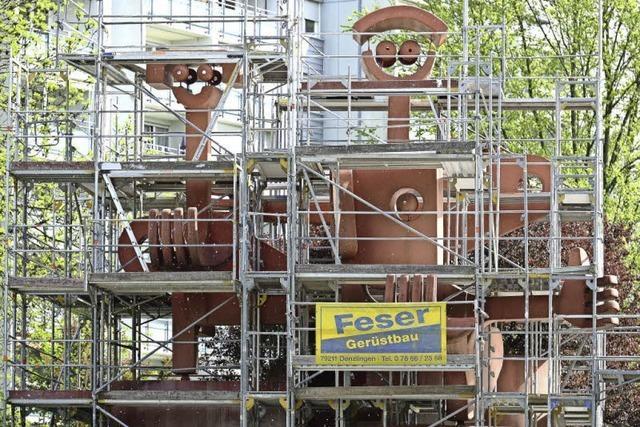 Stadtteil-Skulptur in Landwasser wird saniert