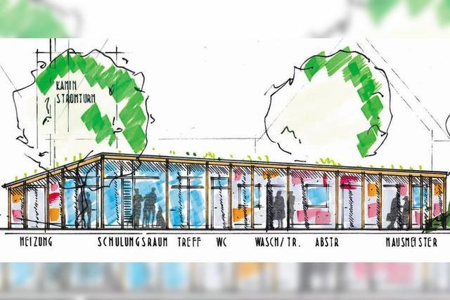 Drei Wohnhäuser und ein Treffpunkt