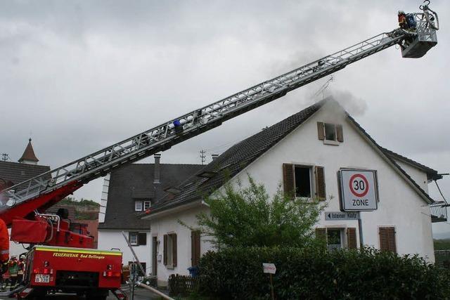 Wohnhausbrand im alten Dorfkern