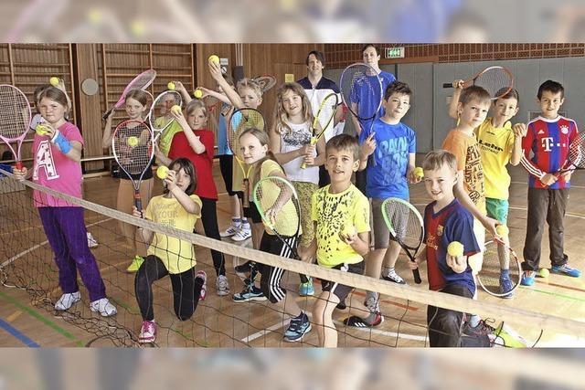 Spaß beim Tennis
