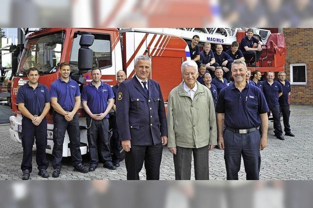 Freiburger Berufsfeuerwehr feiert ihren 70. Geburtstag