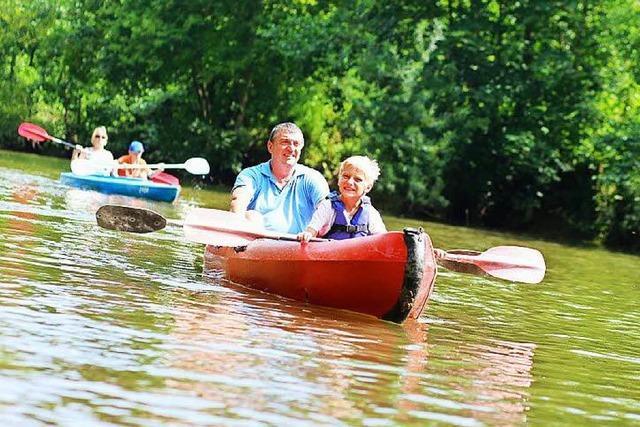 Sieben Kanus kentern bei Hochwasser im Taubergießen