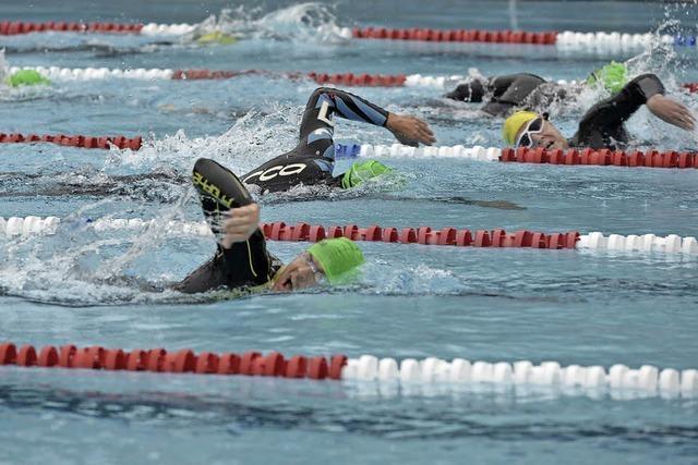 Triathleten schütteln das Wasser in keiner Disziplin richtig ab