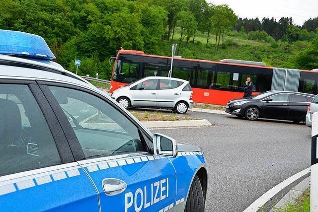 Feuer in Murger Gelenkbus