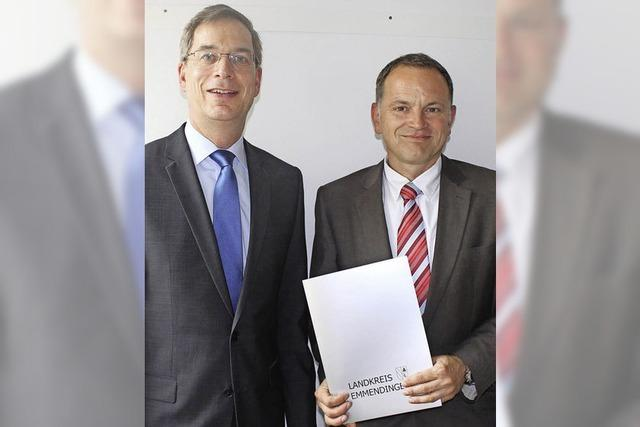 Landrat ehrt Bürgermeister Jürgen Scheiding