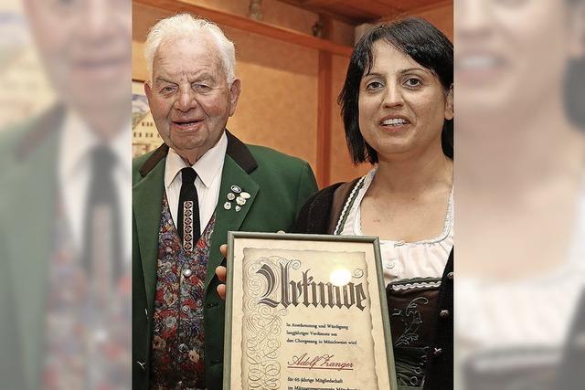 Adolf Zanger singt seit 65 Jahren