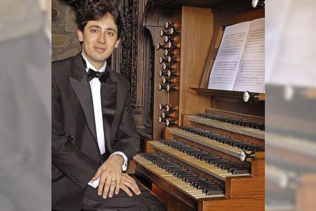 Der Organist Vincent Dubois spielt im Basler Münster