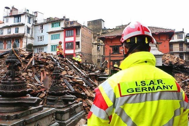Ein Waldkircher in der Vorhut der Rettungskräfte in Nepal