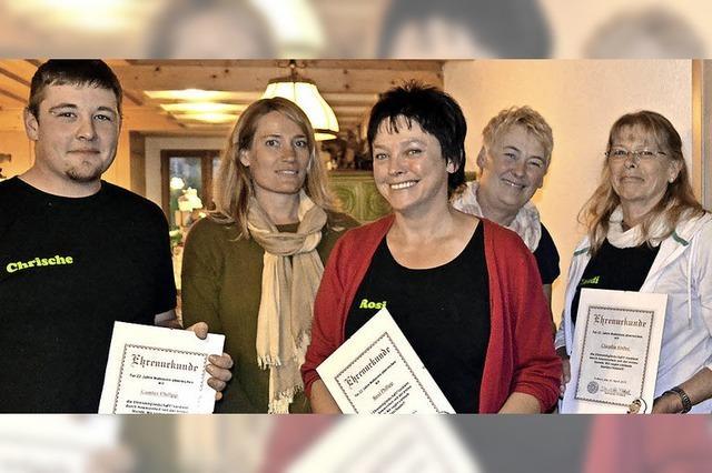 Vier Ehrenmitglieder