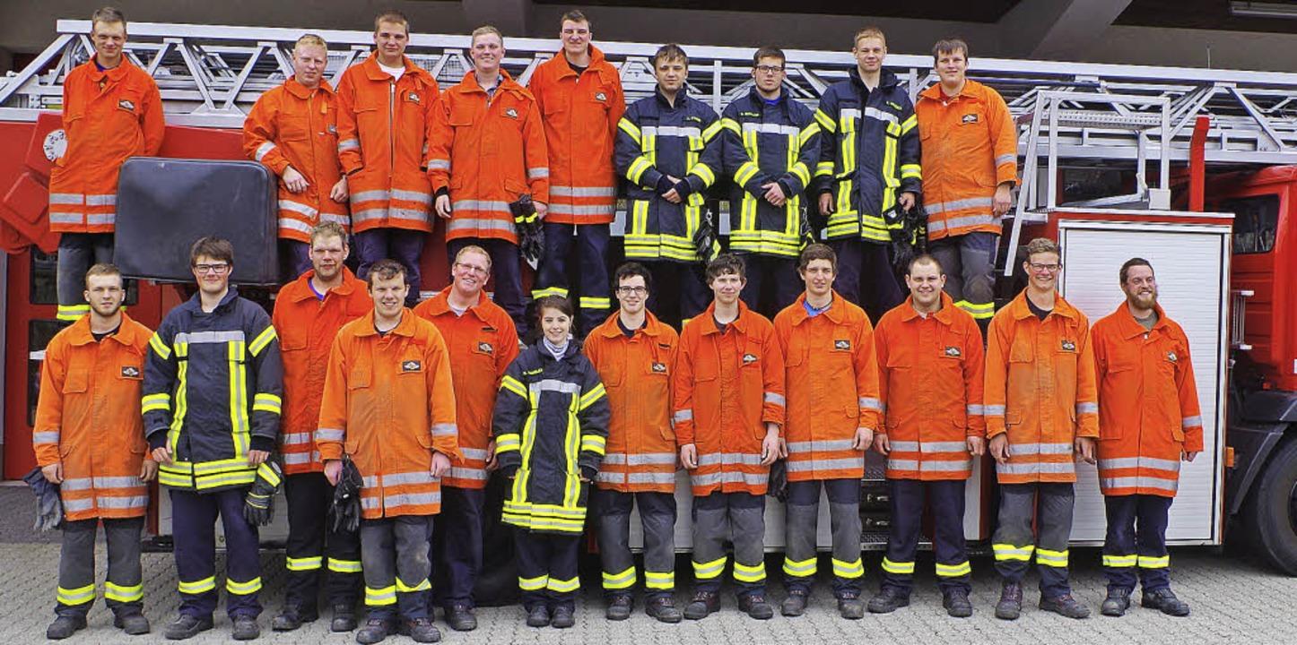 Feuerwehrfrau Saskia Wangler aus Lenzk...Grundausbildung erfolgreich beendet .   | Foto: Markus Straub