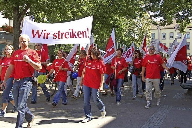 Zeichen stehen auf Streik