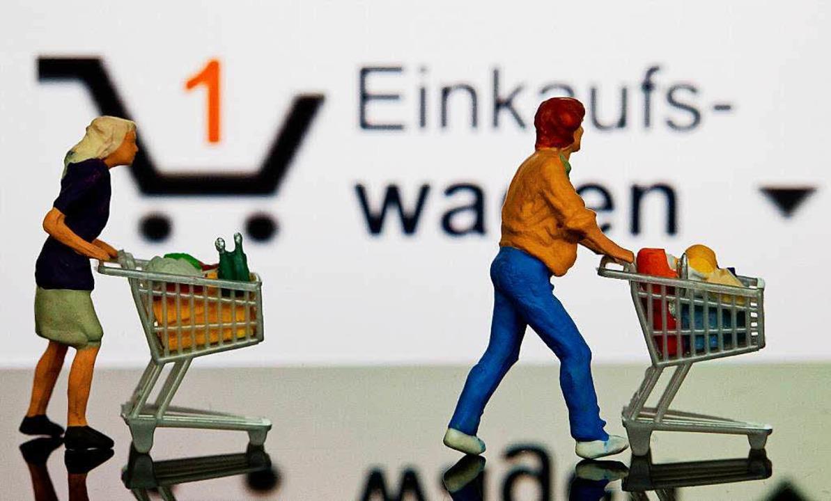 Lieber Onlineshopping als Wagenschieben, findet die EU-Kommission.    Foto: DPA