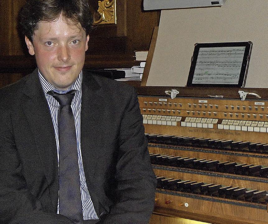 Faszinierte seine Zuhörer: der Organist Daniel Beckmann  | Foto: Bianca Flier