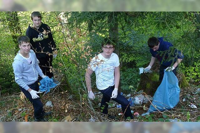Schüler machten sauber