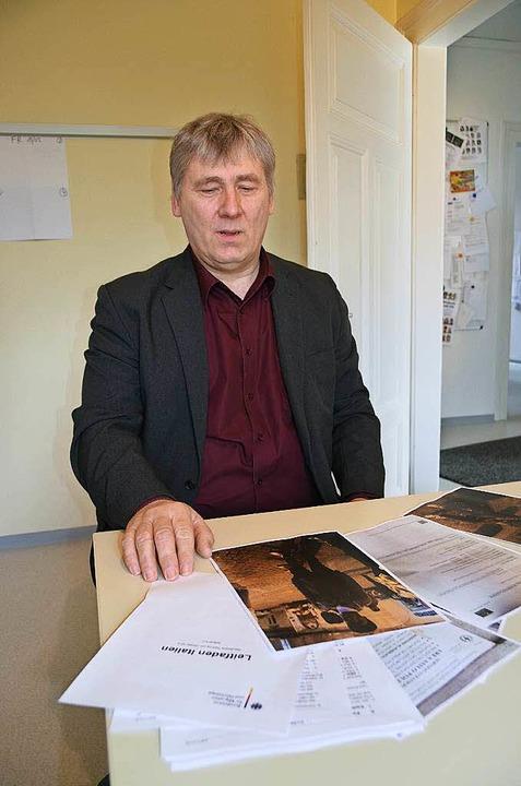 Samuel Gebert, Vorsitzender des Vereins Zuflucht Müllheim.  | Foto: Julia Jacob