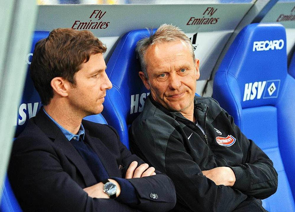 Jochen Saier (links) und Christian Str...vorragender Leistung ihrer Mannschaft.  | Foto: Michael Heuberger