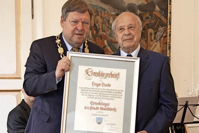 Hugo Eisele ist neuer Ehrenbürger der Stadt Waldkirch