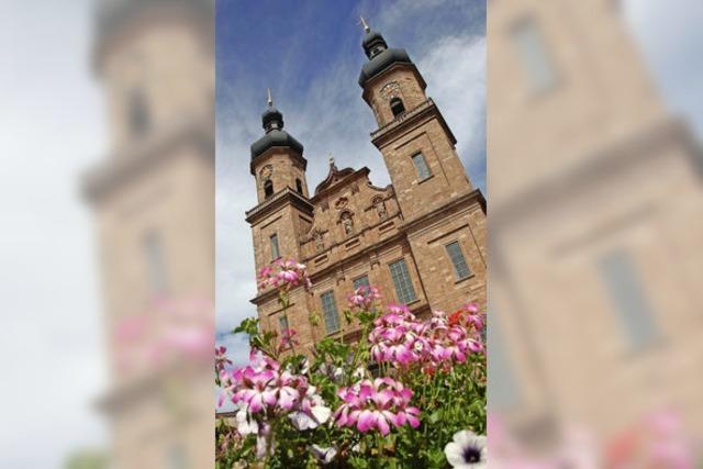 Poller oder Blumenschmuck im Klosterhof von St. Peter?
