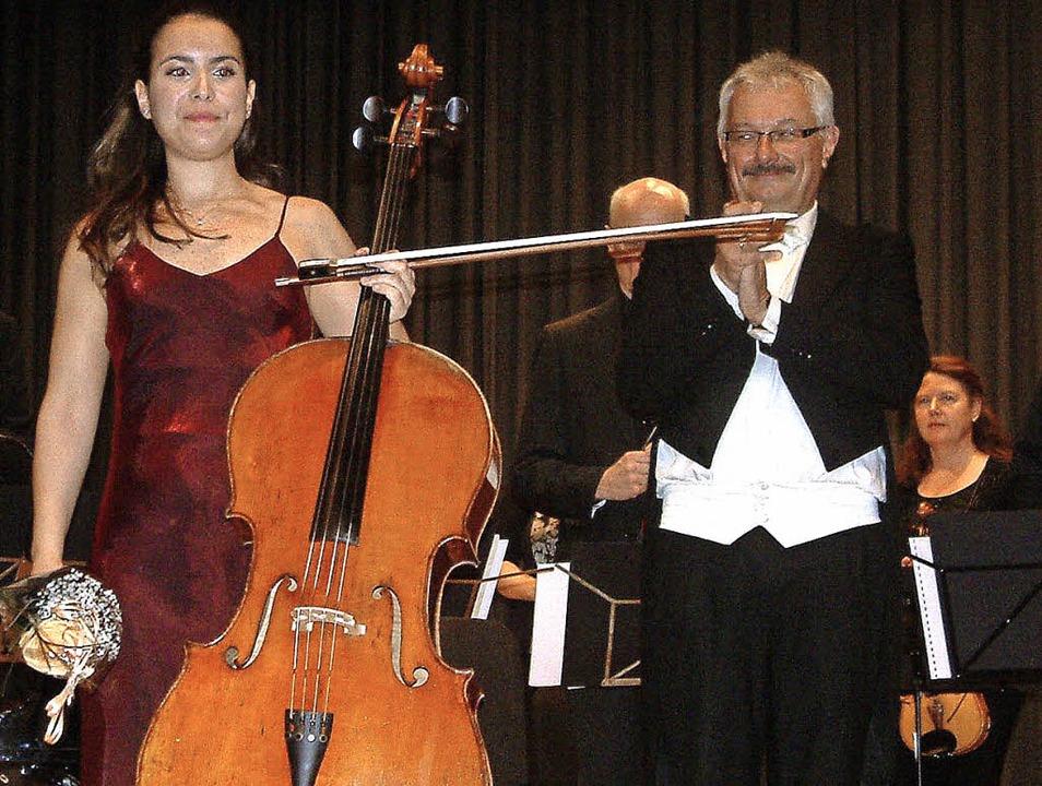 <Text>Als Cello-Solistin beeindruckte ...ndes Geigen- und Klavierspiel</Text>.   | Foto: Roswitha Frey