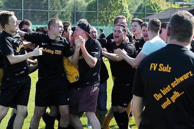 Die Meisterfeier des FV Sulz in der Bezirksliga