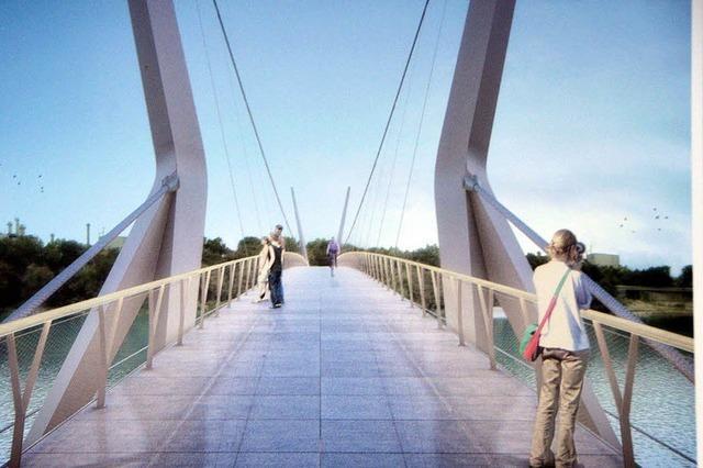Steg schlägt eine Brücke in die Regio