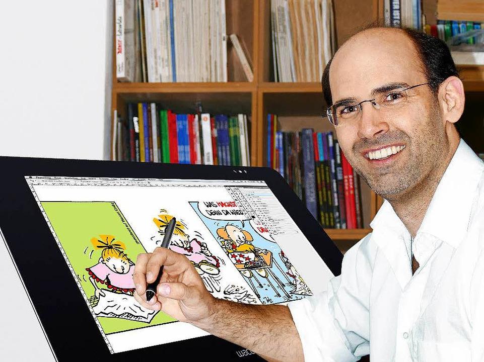 Von der Skizze zum fertigen Comic: Jojo bei der Arbeit.   | Foto: privat