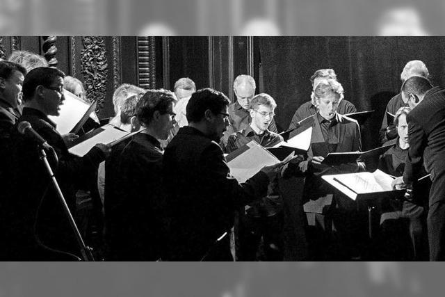 Männervokalensemble L'Ensemble Vocal de Bruxelles in Breisach, Emmendingen, Horben und St. Peter